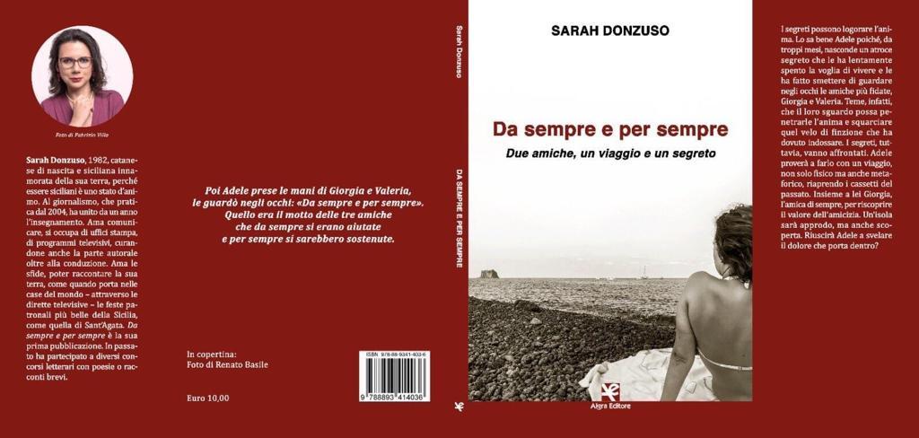 """Casa Cultura Santa Caterina Sabato 12 settembre ore 18,00 presentazione  del libro """"Da sempre e per sempre – due amiche, un viaggio e un segreto."""