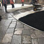 Giro D'Italia : Sistemato tappetino bituminoso