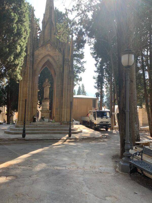 Al via ai lavori  di manutenzione e di ripavimentazione del cimitero comunale monumentale