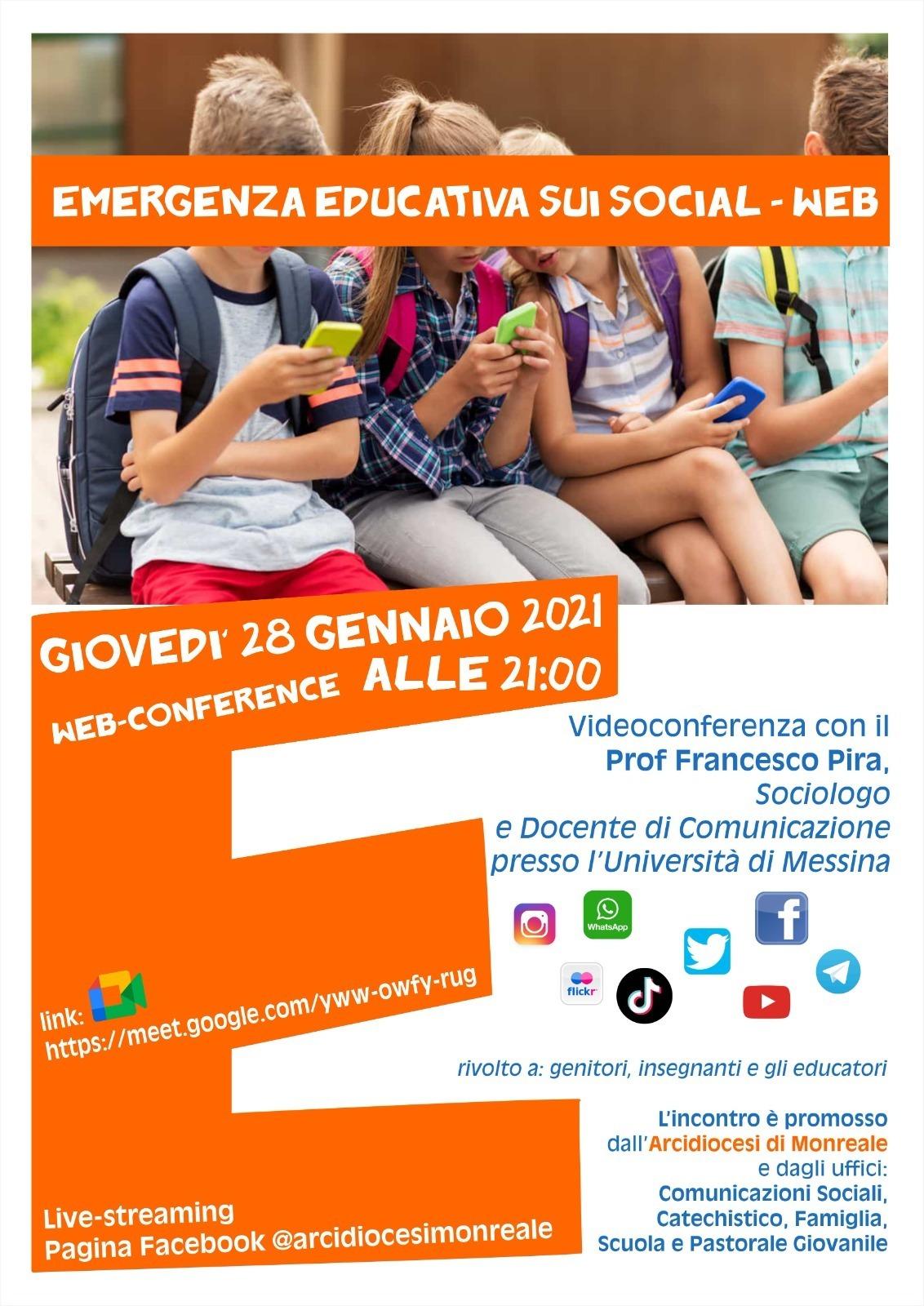 EMERGENZA EDUCATIVA SUI SOCIAL-WEB PER GENITORI, INSEGNANTI ED EDUCATORI.